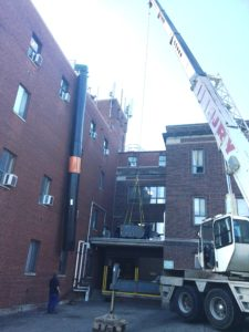 Roof work crane 2